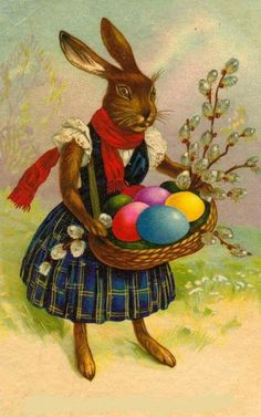 papers.quenalbertini: Vintage Easter Bunny Image