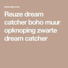 Reuze dream catcher boho muur opknoping zwarte dream catcher
