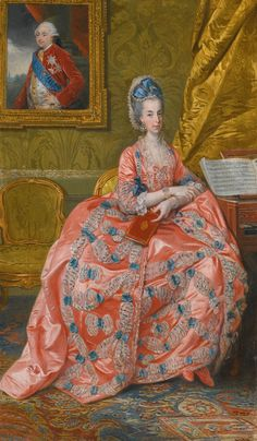 Archiduchesse Marie Amélie d'Autriche, duchesse de Parme, Johan Zoffany R.A.