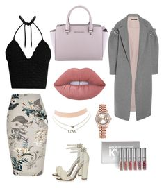 """""""GLAMOROUS"""" by victoriagrande on Polyvore featuring RED Valentino, River Island, Topshop, Mother of Pearl, MICHAEL Michael Kors, Lime Crime, Kylie Cosmetics, Rolex and Charlotte Russe"""