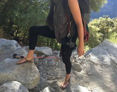 """We got crazy looks but whatever Who else gets weird looks when hiking in their """"sandals""""?Repost via @Coryleegarza  #pin #yosemite #notnaturedeficient #backpacking #barefoot"""