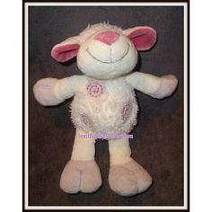 Kiabi Mouton Blanc Gris Rose 3 Spirales