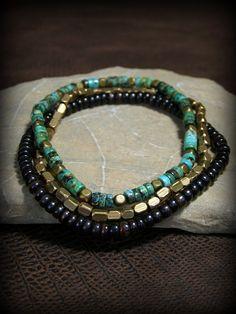 Mens Bracelet  Turquoise Bracelet  Mens von StoneWearDesigns