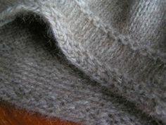 non-roll stocking stitch edge