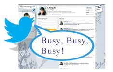 twitter visibility time management.