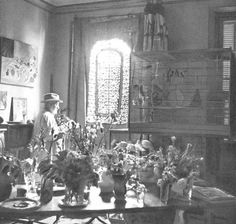 Helene Adant, Matisse in his Vence studio with moucharabiehs, 1940s, Matisse, His Art and His Textiles.