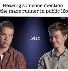 """Did someone say...MAZE RUNNER!?!"" Lol Thomas Brodie-Sangster is so funny! We wil miss you Newt!"