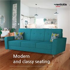 The perfect pick for any modern interior design, sofas define your overall aesthetic and are a symbol of relaxation. Book Now - Thinking of Renting. Think of Rentickle! . . #sofas #furnituredesign #homefurniture #coppersofa #furniturerental #sofadesign #classic seating #smallsofa #rentfurniture #turquoisesofa #furnitureonrent #rentickle #minimalism #compactsofa #brownsofa #sofaforlivingroom #classicsofa #molfinosofa #modernsofa Turquoise Sofa, Home Furniture, Furniture Design, Classic Sofa, Brown Sofa, Small Sofa, Renting, Modern Sofa, Living Room Sofa