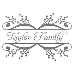 Family Name Vinyl Wall Decal - Personalized Wall Decal on Etsy, $36.00