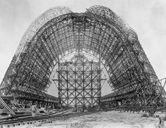 Construction of Hangar One at NASA Sunnyvale circa 1931 - 1934 by NASA on The Commons, via Flickr