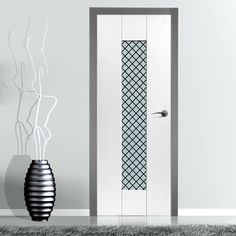 Jbk Symmetry Axis Monochrome Door with Obscure Safety Glass and Prefinished, a modern style of door that is very affordable. Contemporary, Glass, Glass Door, Monochrome, Contemporary Doors, Modern, Doors, Safety Glass, White Glass