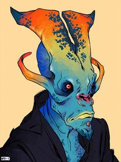 All of my aliens deisign, oc and refsheet