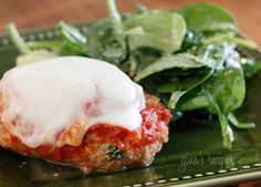 Baked chicken breasts rolled with spinach and ricotta topped with pomodoro sauce and melted mozzarella. A dish the whole family will love!