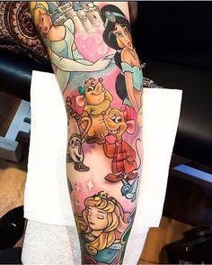 Part of a Disney sleeve done by @thebakery  #inkeddisney