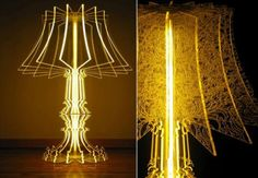 laser cut acrylic – interesting idea to play with using less lampy forms. laser cut acrylic – interesting idea to play with using less lampy forms. Deco Luminaire, Luminaire Design, Laser Art, 3d Laser, Laser Cut Lamps, Panel Led, Gravure Laser, Laser Cutter Projects, Acrylic Furniture