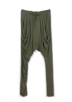 Buluos Plus Size Casual Drawstring Stylish Harem Pants for Women (One Size, Brown) Buluos. $41.90
