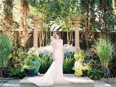 Rhinestone Sheath wedding gown by Moonlight found at The Blushing Bride boutique. Credits: @moonlightbridal  @brummettvisuals  @natyissa; Styling by Shana Lepsis