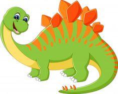 illustration of Cute dinosaur cartoon Dinosaur Images, Dinosaur Pictures, Dinosaur Art, Cute Dinosaur, Die Dinos Baby, Baby Dinosaurs, Drawing For Kids, Painting For Kids, Dinosaur Birthday Party