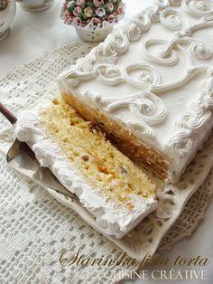 Juče sam, kao nedeljni slatkiš, napravila ovu finu torticu i mogu vam reći da joj ime savršeno pristaje. Nežna, kremasta i fina, nismo ...