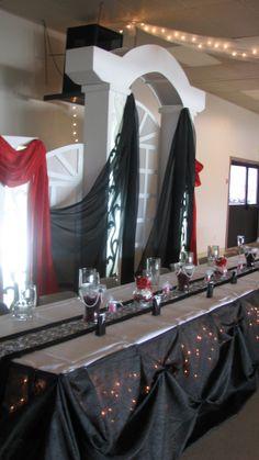 Black & Red Wedding Backdrop Black Red Wedding, Wedding Stuff, Wedding Ideas, Wedding Backdrops, Got Married, Wedding Planning, Weddings, How To Plan, Mirror