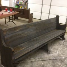 ideas for my church pew... pretty stain combo