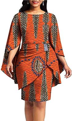 African Print Dresses for Women Dashiki Dress+Mini Skirt Ankara Aline Clothing Wax Fabric African Dresses For Kids, African Maxi Dresses, Latest African Fashion Dresses, African Attire, Ankara Fashion, Best African Dress Designs, African Dress Styles, Modern African Print Dresses, Ankara Gowns