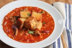 Beef and Barley Stew with Biscuit Croutons - Hip Foodie Mom