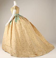 Ball gown, ca. 1860; Metropolitan Museum of Art