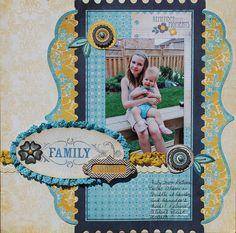 #papercraft #scrapbook #layout My Mind's Eye Stella & Rose