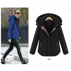 abrigos 16 New Winter Jacket Women Hooded Thicken Coat Female fashion Warm Outwear Cotton-Padded Long Wadded Jacket Down Coat