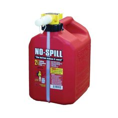 No Spill fuel cans feature a unique thumb controlled fuel spout for easy, controlled pouring. The design allows for more precise product fueling, reducing spills and overflows. High Flow Rate (up to 3 Gal. /min), CARB Compliant and Child Resistant. Trailer Hitch Accessories, Plumbing Pumps, Squat Form, Filling System, Stainless Steel Mesh, Water Crafts, Canning, How To Make, Flow