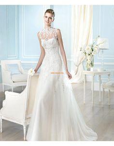 Áčkový střih Obdélník Nášivky Designer Svatební šaty