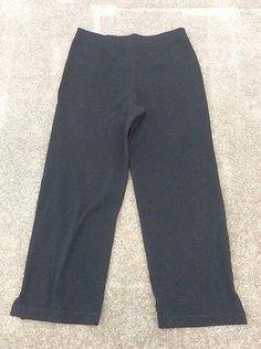 ADIDAS Womens Athletic Sportswear Black Capris Size Small Black Capris dd6baba79f7