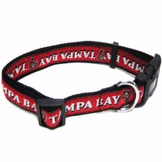 """-""""Tampa Bay Buccaneers NFL Dog Collars"""" - BD Luxe Dogs & Supplies"""