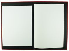 Carbon Rod | A4 - Red Buckram - Black Buckram - Strip Pocket