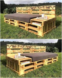 recycled wood pallet garden couch