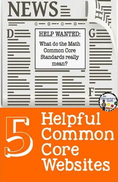 What do the math common core standards really mean? Here is a list and short description of several helpful math common core websites.