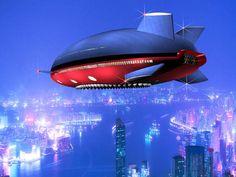 Aeroscraft flying over Hong Kong