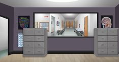 Hospital office no desk - day 2d Game Background, Scenery Background, Background Images For Editing, Office Background, Episode Interactive Backgrounds, Episode Backgrounds, Anime Backgrounds Wallpapers, Anime Scenery Wallpaper, Anime Hospital