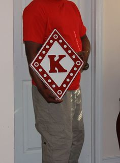 "Kappa Alpha PSI Fraternity 24"" inch Carved Diamond Painted   eBay"