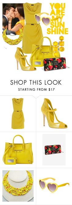 """""""Sunday morning"""" by audrey-brooke-zaring ❤ liked on Polyvore featuring Oasis, Gianvito Rossi, Balenciaga and MLC Eyewear"""