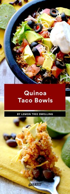 Guac isn't extra when you make the bowl yourself. #greatist https://greatist.com/eat/healthy-taco-bowl-recipes