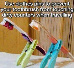 Toothbrush traveling