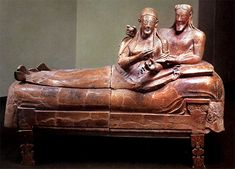 'Sarcophagus of the Spouses' - late 6th century BC -  National Etruscan Museum, Rome