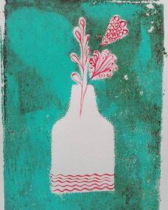 #100daysofvaseofflowers Day 27 Vase 57 #bethanialimadesigns #vaseofflowers #florals #flowers #havingfunwith #whatinpiresme #gelliprints #watercolor Art Informel, 100th Day, Flower Vases, Florals, Watercolor, Disney Princess, Disney Characters, Instagram Posts, Artwork
