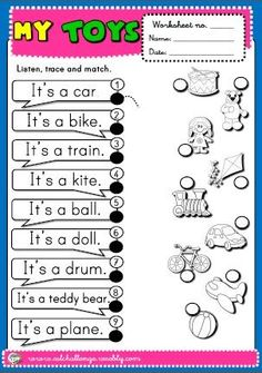 English worksheet: How many toys? | angļu valoda | English lessons