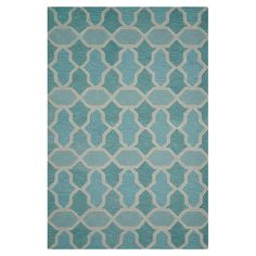 Anchor your living room seating group or define space in the den with this artfully hand-tufted wool rug, featuring a geometric trellis motif for eye-catchin...