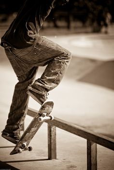 A skateboarder I photographed near my old apartment back in 2008. Trying to employ Bresson's decisive moment.