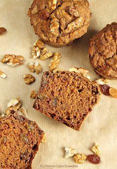 Kuchenne Łasuchowanie: Pełnoziarniste muffinki marchewkowe