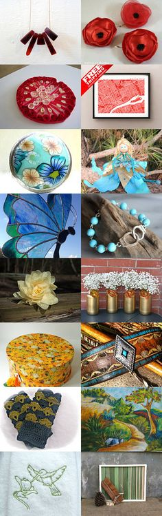 Red, Blue, Yellow and Green by Angelika Parker on Etsy--Pinned with TreasuryPin.com
